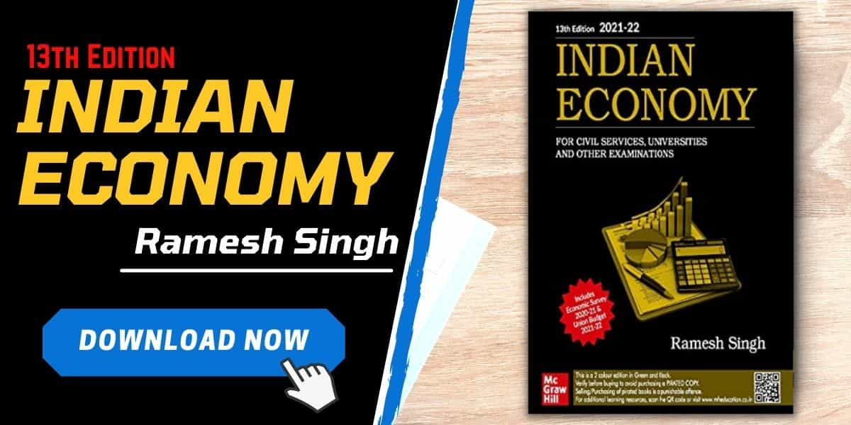 Image of a book of Indian Economy by Ramesh Singh